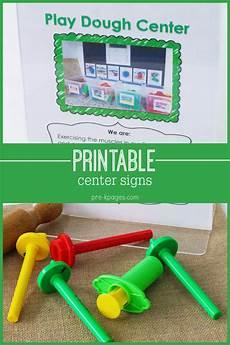 Printable Sign Editable Center Signs For Preschool Pre K And Kindergarten