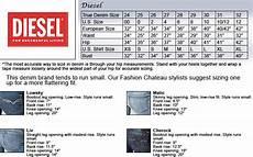 Diesel Swimwear Size Chart Diesel Jeans Size Chart Jeans Hub