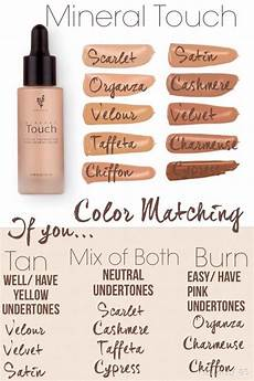 Ricci Foundation Colour Chart Touch Liquid Foundation Color Matching Chart Younique