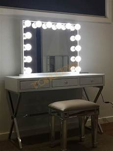Makeup Vanity With Lights L Frameless White Hollywood Vanity Beauty Makeup Mirror