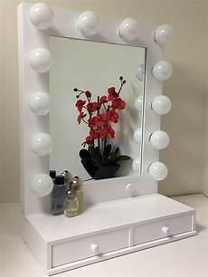 Makeup Vanity With Lights Hollywood Vogue Lighted Makeup Vanity Mirror With Drawers