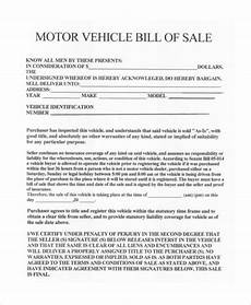 Car Sale As Is Form Free 10 Sample Vehicle Bill Of Sales Forms In Pdf Excel