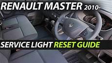Renault Master Service Light Reset Renault Master 2010 Service Oil Light Reset Guide Youtube