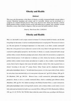An Essay About Health Pdf Obesity And Health Essay