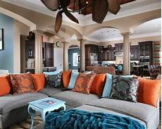 15 stunning living room designs with brown blue and