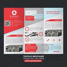 Template For Brochure Free Red Gray Business Trifold Brochure Layout Template Vector