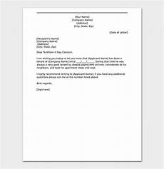 Tenant Letter Of Recommendation Tenant Reference Letter How To Write With Format Amp Samples