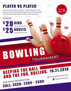 Bowling Flyer Bowling Tournament Flyer Design Template In Psd Word