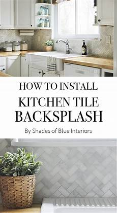 how to install tile backsplash kitchen how to install kitchen tile backsplash shades of blue