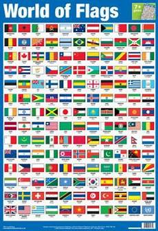 Flags Of The World Chart Printable Laminated World Of Flags Educational Chart Poster Print