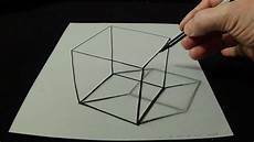 Drawing 3d 3d Drawing A Simple Cube No Time Lapse How To Draw 3d