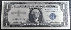 Silver Certificate Dollar Bill Value Chart 1957 1 One Dollar Silver Certificate Bill United States
