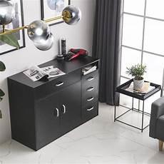 black mdf bathroom salon cabinet shelf furniture cupboard