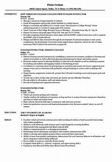 Online Instructor Resume Resume For Ielts Trainer