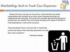 dispense marketing ppt built in trash bag dispenser powerpoint presentation