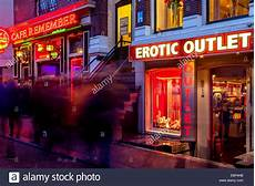 Red Light Shop Shop The Red Light District Amsterdam Holland Stock