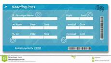 Blank Airline Ticket Template Blank Airline Boarding Pass Ticket Stock Illustration