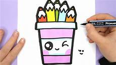 Cute Drawlings How To Draw A Cute Pencil Pot Easy Happy Drawings