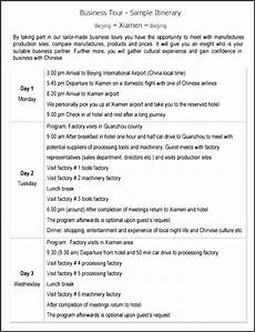 Programme Itinerary Template Business Travel Itinerary Template 8 Free Word Excel Tour