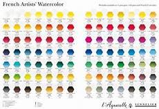 Sennelier Watercolor Chart Color Charts Art Nebula
