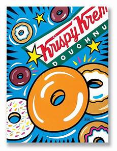 Pop Art Food Krispy Kreme Doughnuts Illustration By Burton Morris Pop
