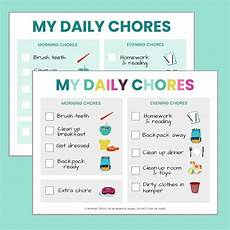 Chore Chart For 6 Year Old Free Printable Chore Chart For 5 6 Year Olds The