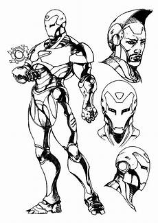 Malvorlagen Ironman Iron Coloring Pages