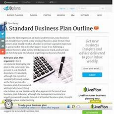Standard Business Plan Outline Business Plan Pearltrees