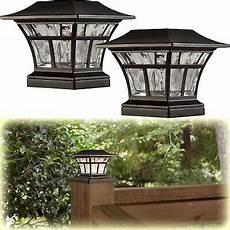 Outdoor Solar Post Cap Lights 2 Pack Bronze Solar Led Deck Post Cap Light 4 Quot X4 Quot 6 Quot X6