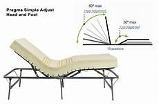 pragma adjustable metal bed frame raises and