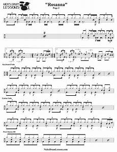 Free Sheet Music Charts Quot Rosanna Quot Toto Drum Sheet Music Nick S Drum Lessons