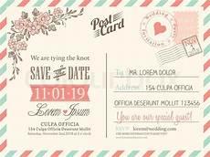 Free Postcard Invitation Templates Printable Vintage Postcard Background Vector Stock Vector
