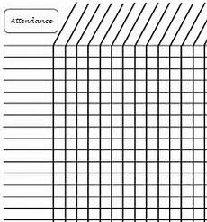 Free Printable Attendance Chart Attendance Tardy Late Time Tracker Chart Monthly
