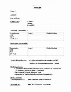 Resume Prepare How Not To Make Your Cv