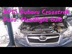 2013 Subaru Crosstrek Light Bulb 2013 Subaru Crosstrek Headlight Bulb Youtube
