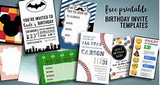 Free Printable Party Invitations For Boys Birthday Invitations Free Printable Templates Paper