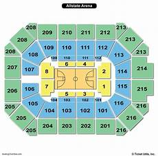 Usair Arena Seating Chart Allstate Arena Seating Chart Seating Charts Amp Tickets