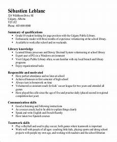 Skills To Put On Resume For Students Free 9 Sample Resume For High School Student In Ms Word Pdf
