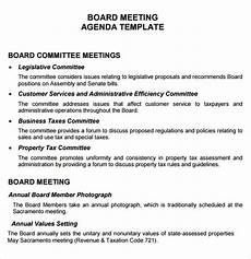 How To Write An Agenda For A Board Meeting Free 11 Board Meeting Agenda Templates In Free Samples