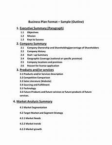 Standard Business Plan Outline Isp Business Plan Format
