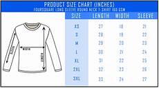 Sleeve Measurement Chart Customizable Foursquare Long Sleeve Roundneck T Shirt