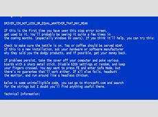 How to Troubleshoot the Blue Screen of Death (BSOD