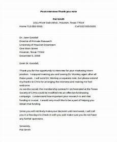 Example Thank You Note After Interview Free 42 Thank You Note Examples In Pdf Doc Examples
