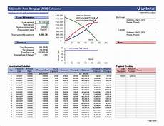 Mortgage Calculator Excel Sheet Arm Calculator Free Adjustable Rate Mortgage Calculator