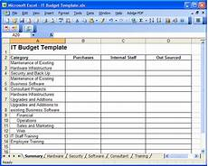It Department Budget Template It Budget Template Playbestonlinegames