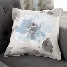 floral 100 cotton cushion cover duck egg