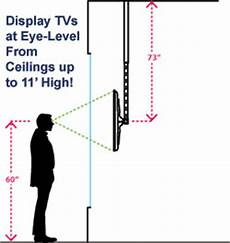 Wall Mount Tv Height Chart Extra Long Ceiling Mount For Tv Holds Lcd Screens In Windows