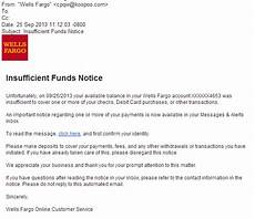 Insufficient Funds Letter To Customer Phishingpier Insufficient Funds Notice Fake Site