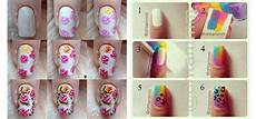 Easy Step By Step Toenail Designs Easy Step By Step Spring Nail Art Tutorials For Beginners