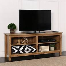 walker edison w58cspbw 58 quot barnwood wood tv stand console